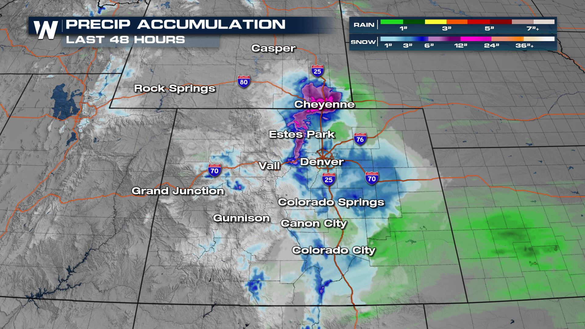 Spring Snow for Colorado and Wyoming Ending