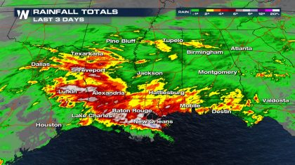 Flooding Threat Across The Gulf Coast States