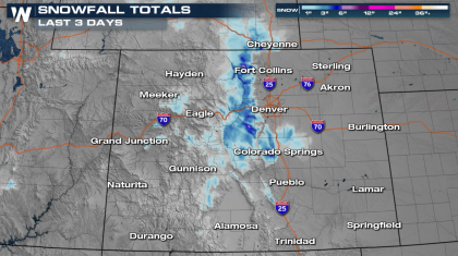 Snow Continues in the High Country of Colorado