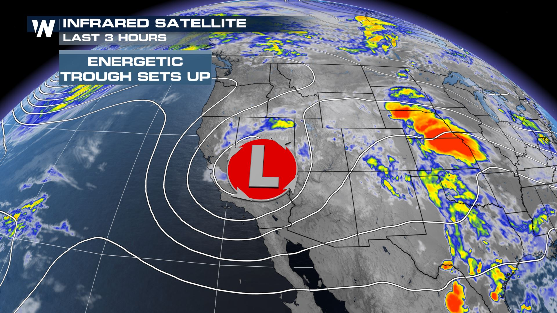 Scattered Storms for the Western U.S.