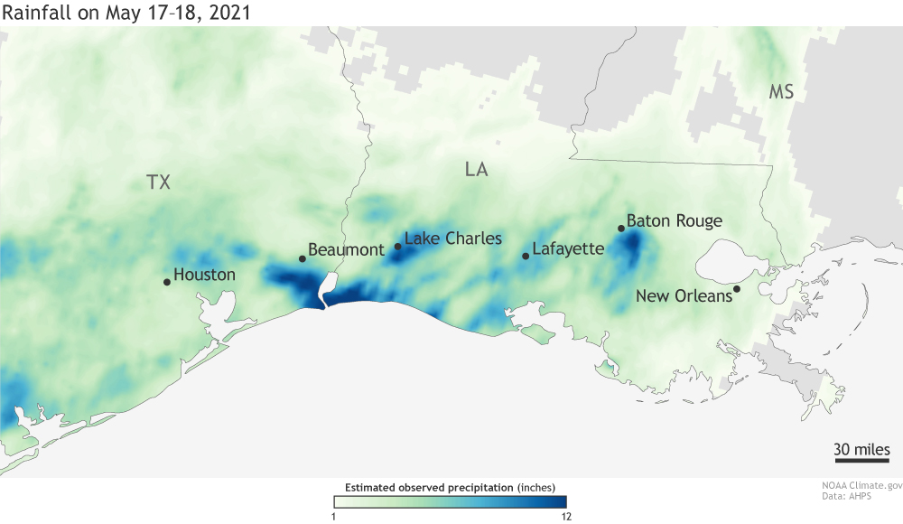 A Closer Look at the Louisiana & Texas Flash Flooding from Last Week