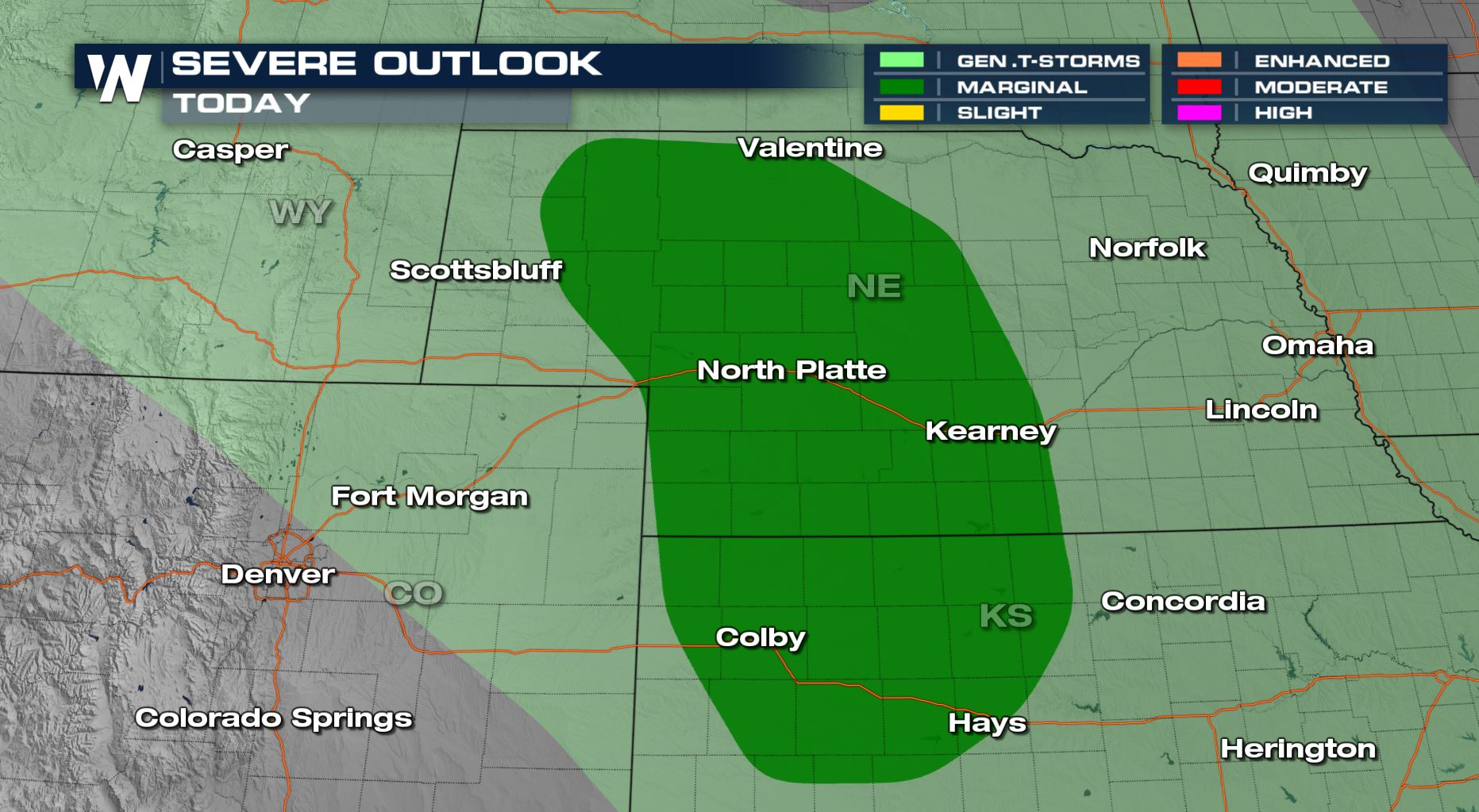 Severe Weather Returns to the Plains Thursday