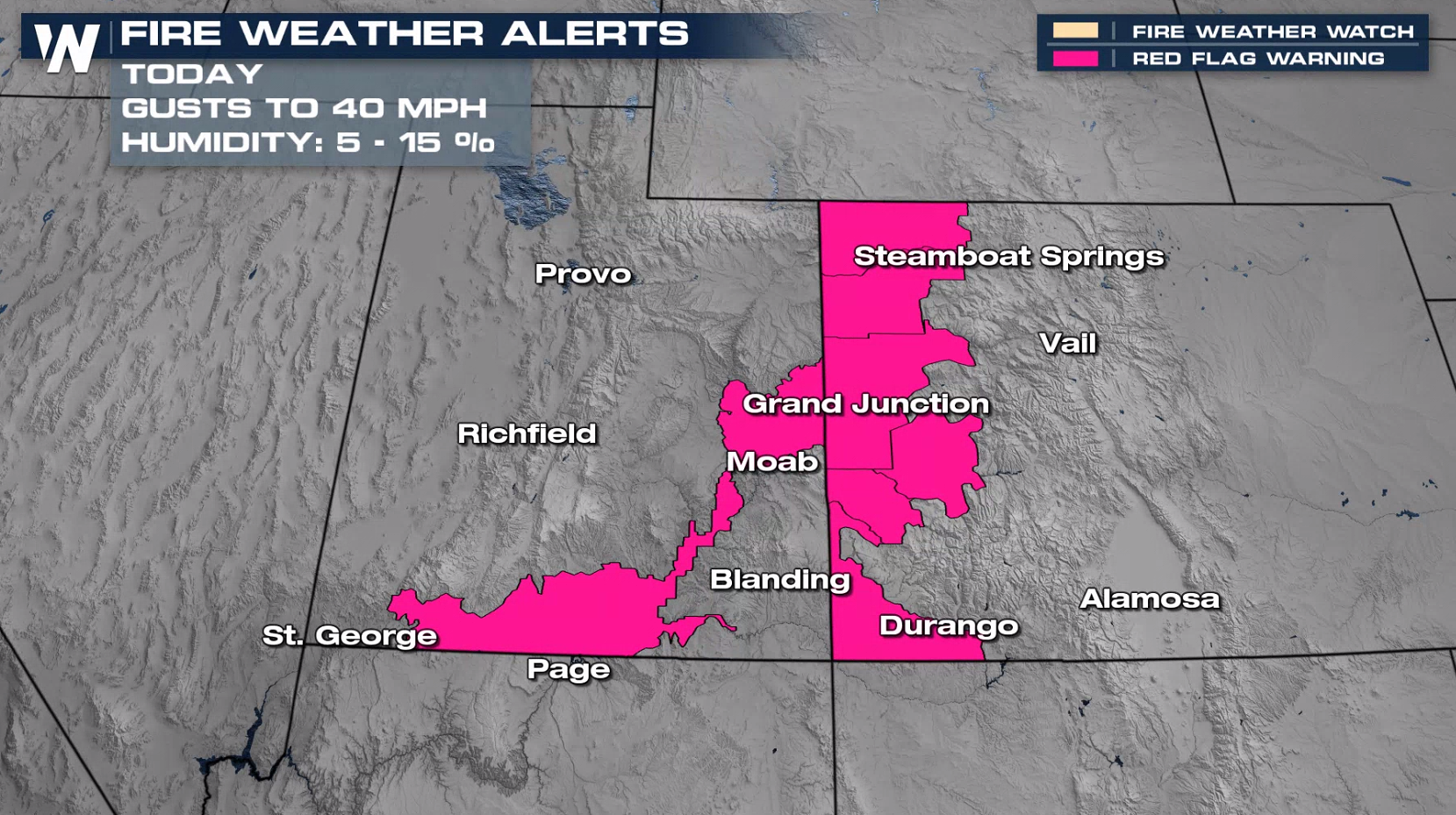 Fire Weather Conditions in the Southwest