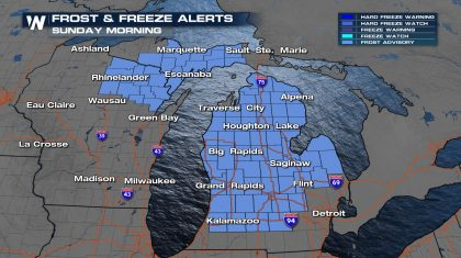 Cold Air Brings Frost Potential to Northern U.S.