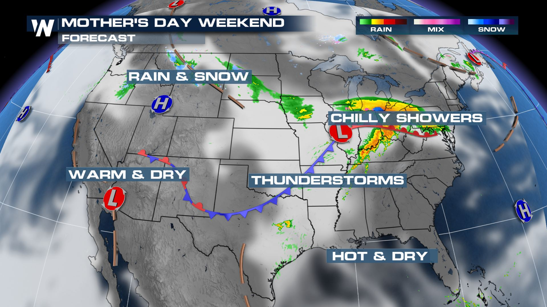 Mother's Day Weather: At A Glance