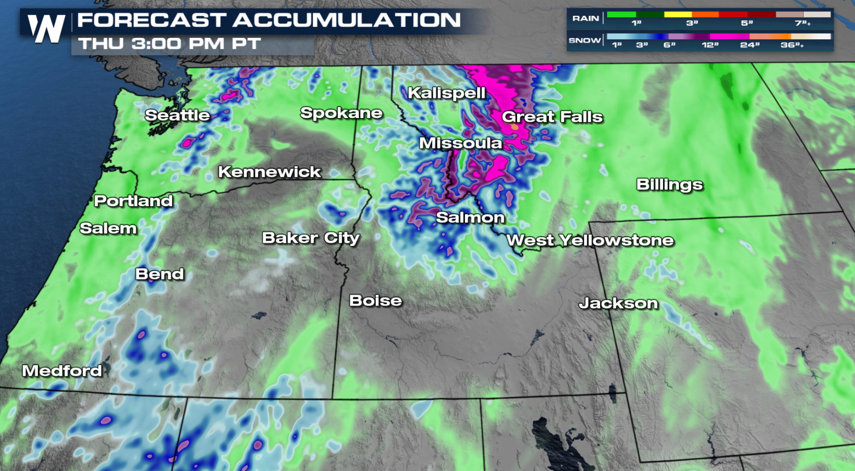 Active, Cool Weather for the West Through Monday