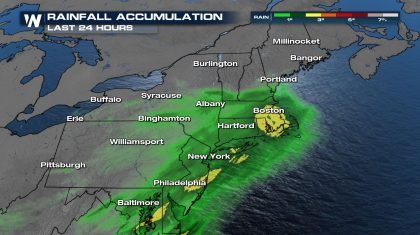 Heavy Rain & High Surf for the Northeast Continues