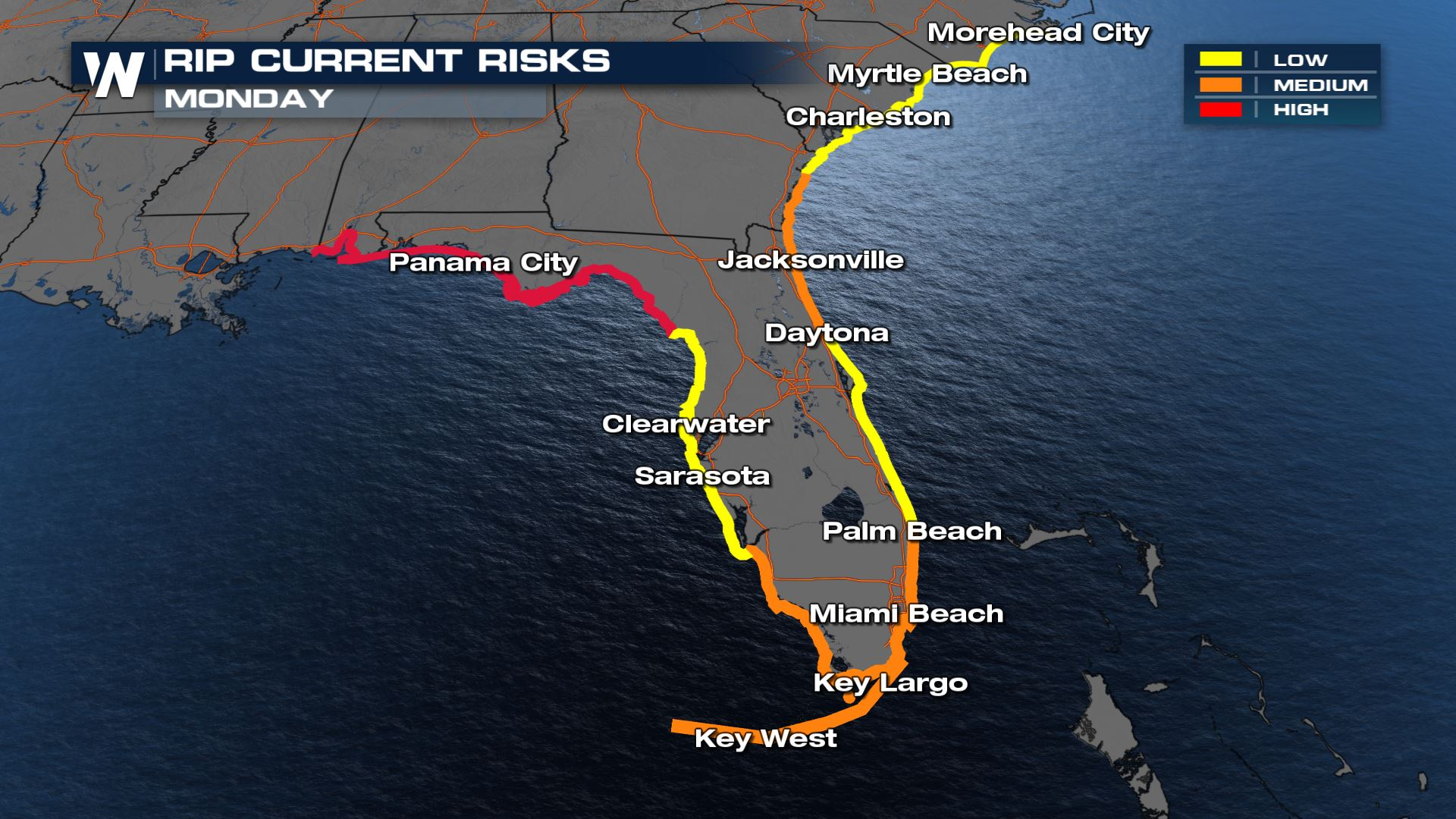 Record Heat & High Surf for Florida