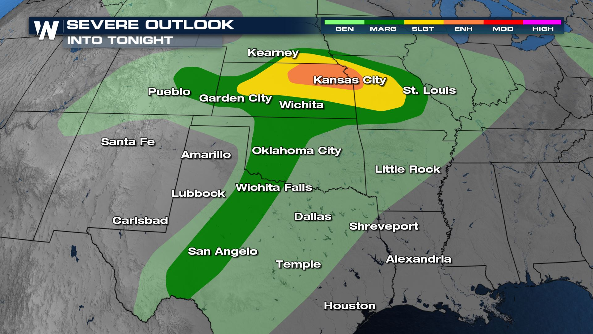 Severe Storms Likely Saturday Night