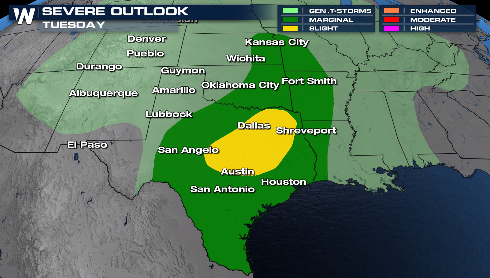 Severe Storm Threat Continues Through Mid Week