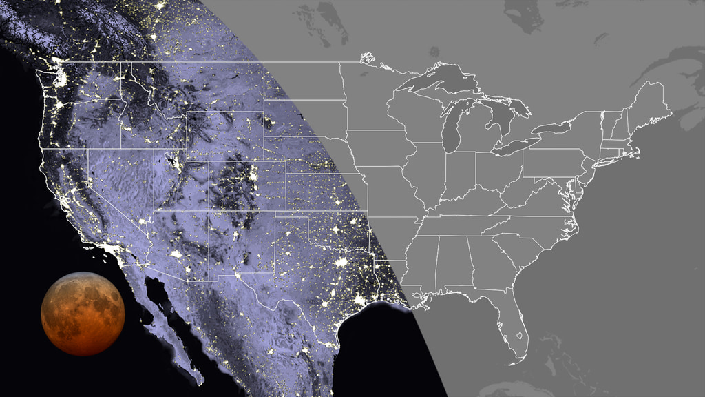 This image shows who can view the total lunar eclipse.