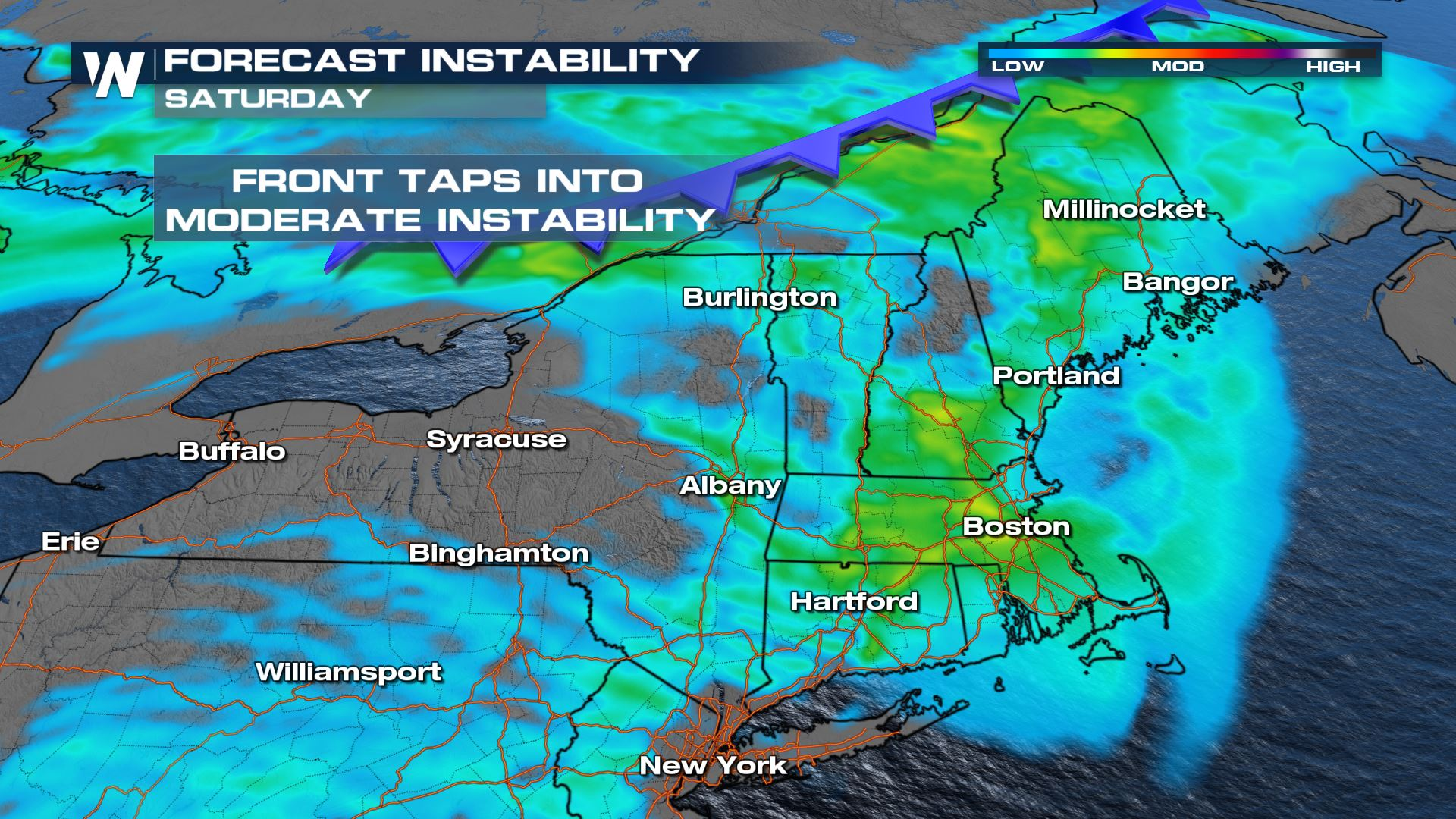 Severe Storm Potential in New England on Saturday