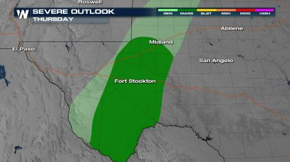Dry Line Could Produce Isolated Storms for West Texas Thursday