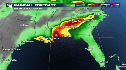 Expected Impacts from Tropical System in the Gulf