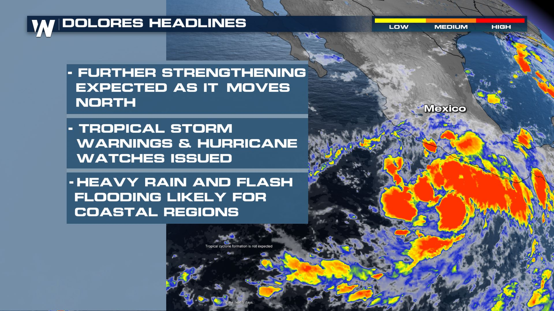 Tropical Storm Dolores Expected to Bring Heavy Rain to Mexico