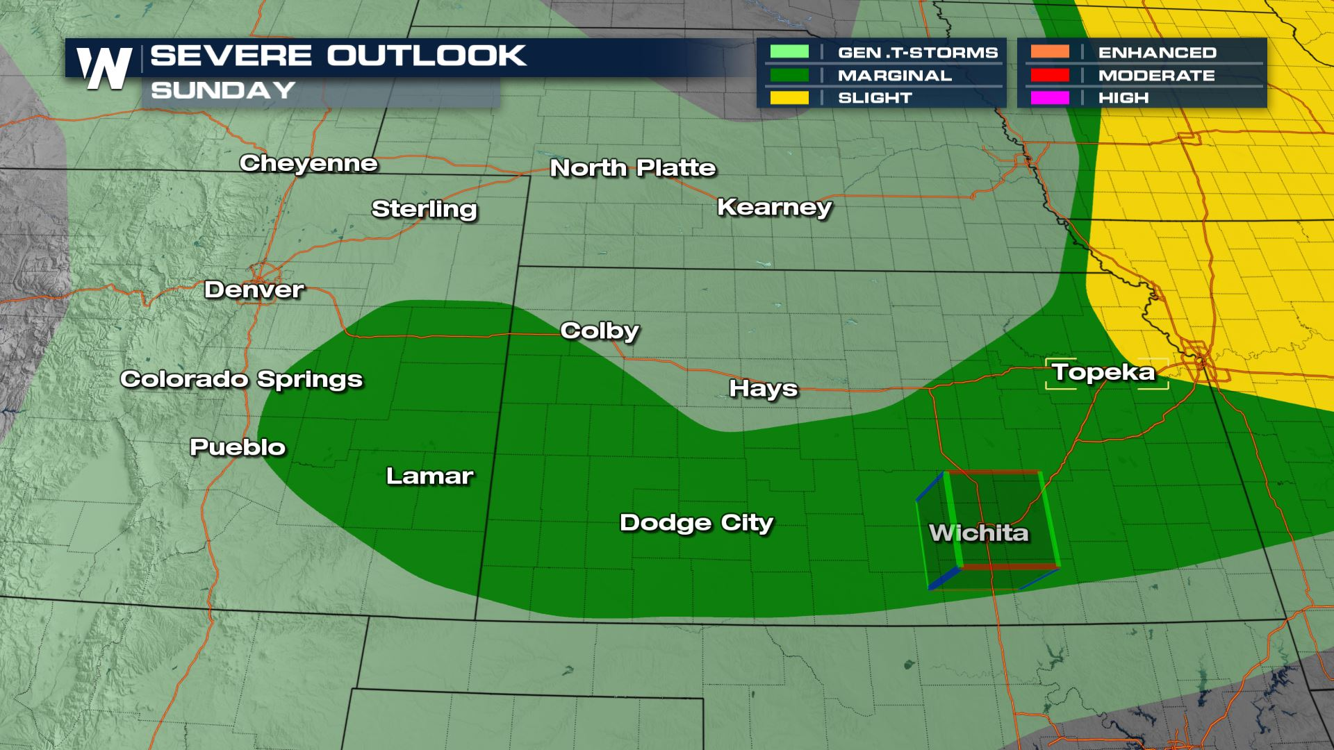 Severe Storms for the Rockies Front Range, Sunday