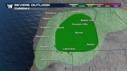 Severe Storm Chances in the Pacific Northwest