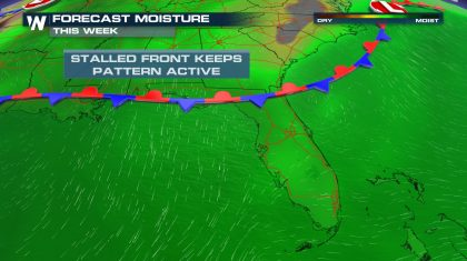 Stalled Front Keeps Florida A Bit Cloudier, Wetter