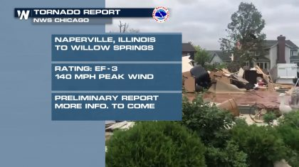 Tornado Near Chicago Rated An EF-3