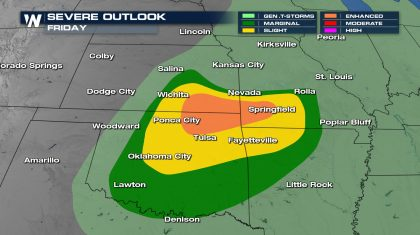 Severe Risk Continues In the Central Plains