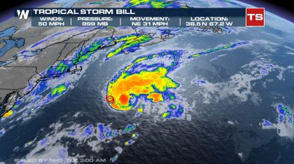 Bill Becomes an Extratropical Cyclone, Last Advisory Issued