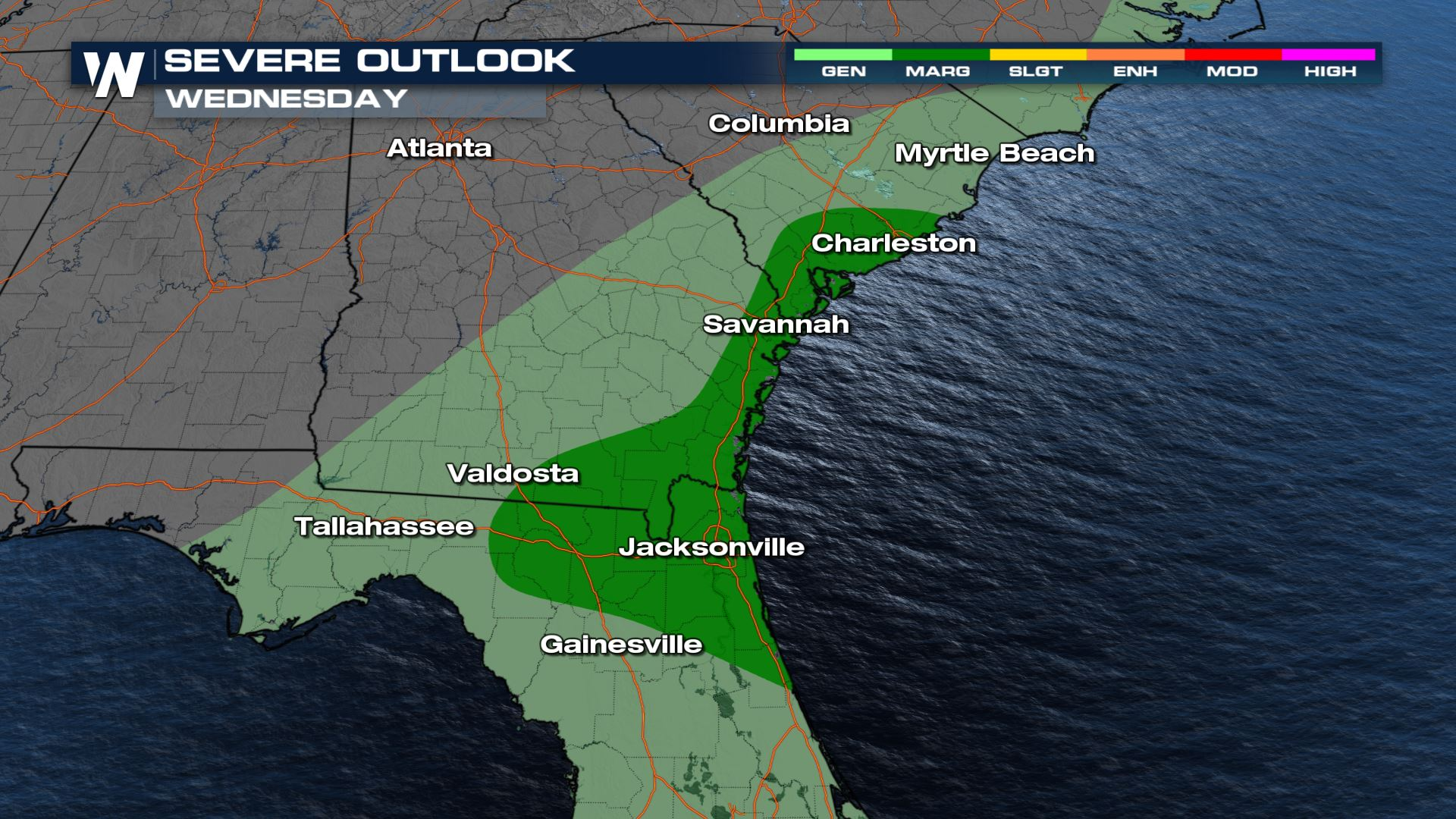 Strong Storms and Flooding Risk for Florida