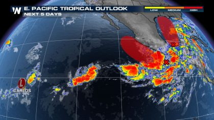 Area of Tropical Development to Watch in the Eastern Pacific