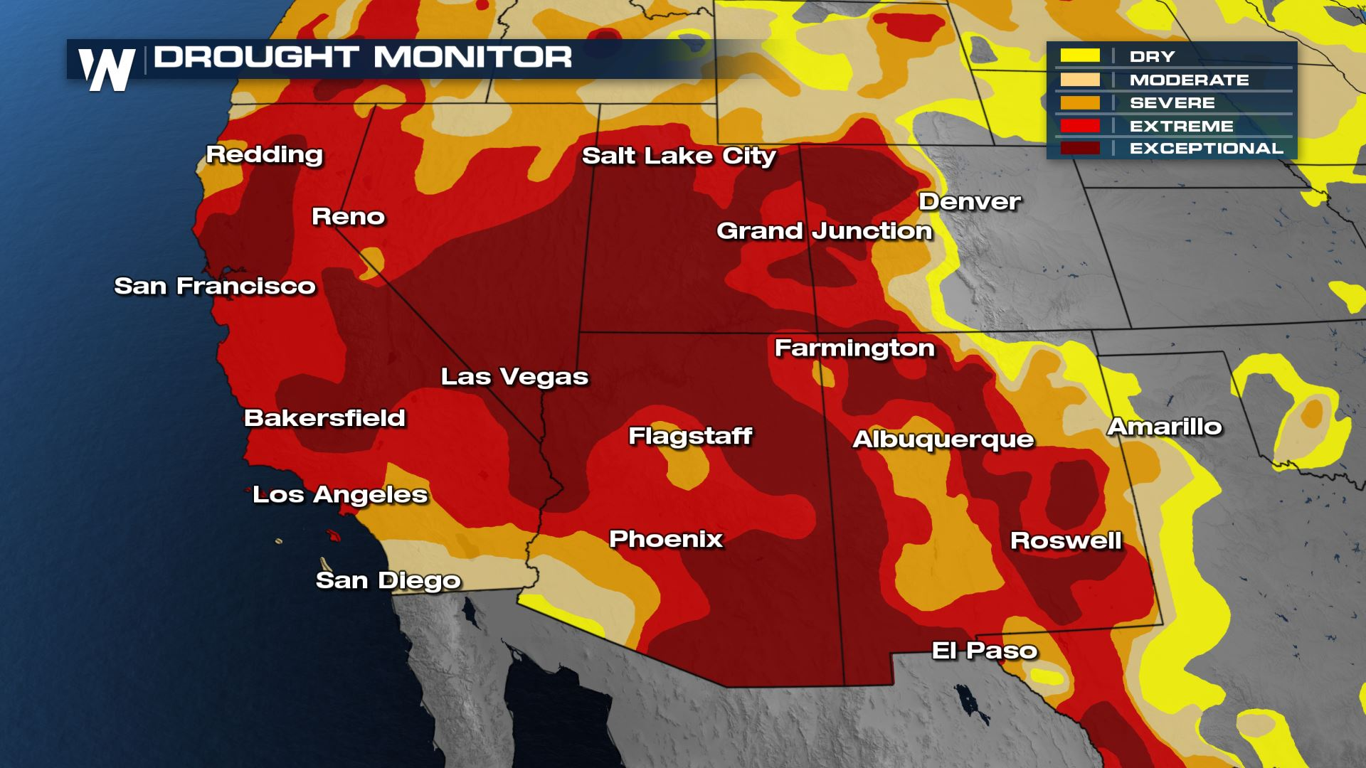 Exceptional Drought Worsens Across The West