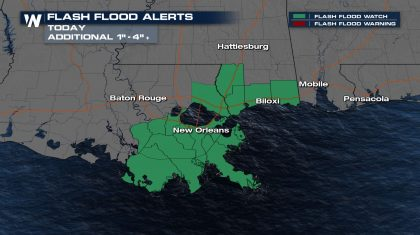 Flooding Threat for the Gulf Coast Today