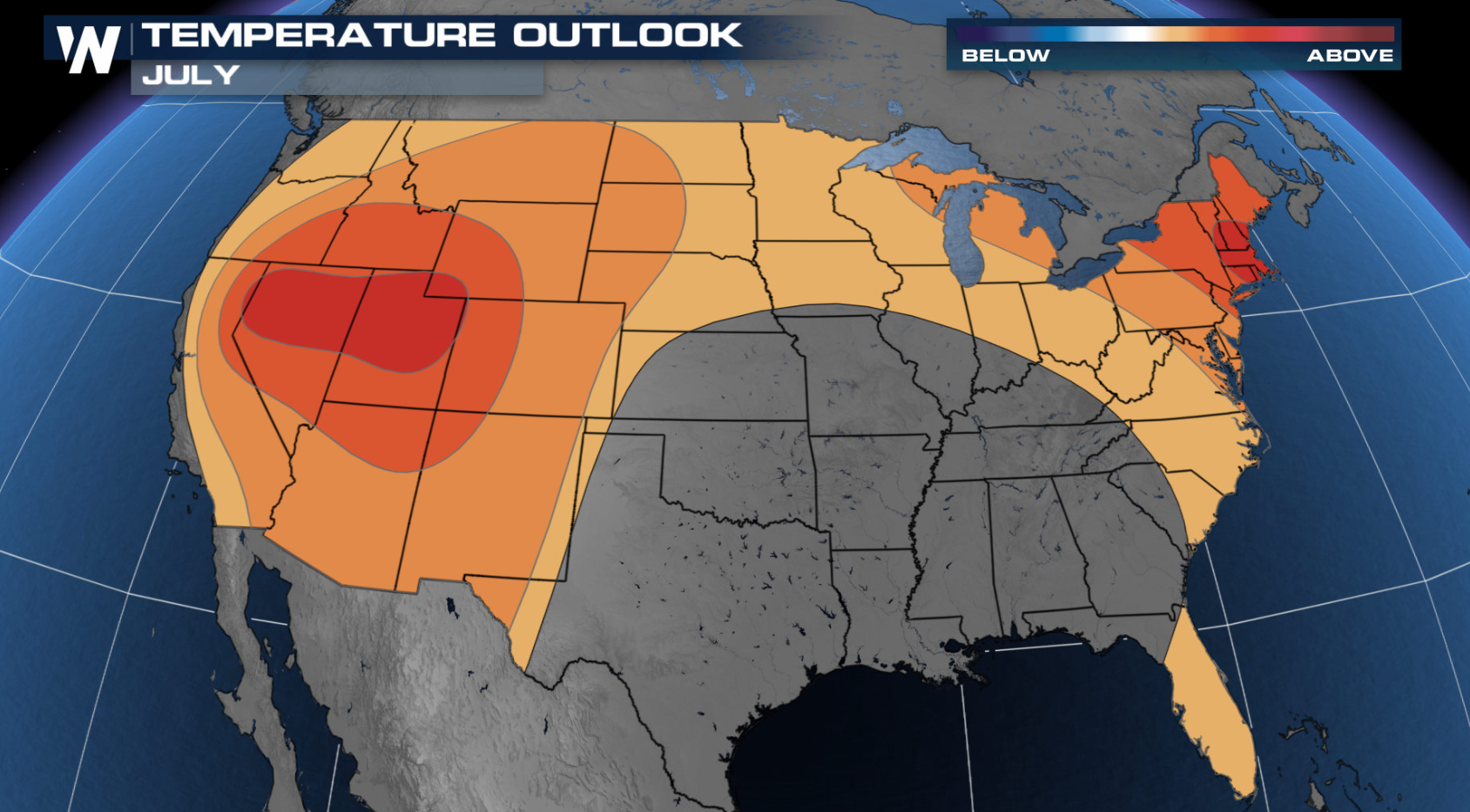 July Outlook Issued from NOAA's Climate Prediction Center