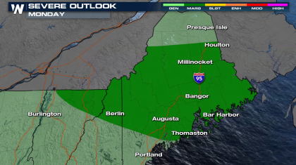Severe Weather Possible in Maine