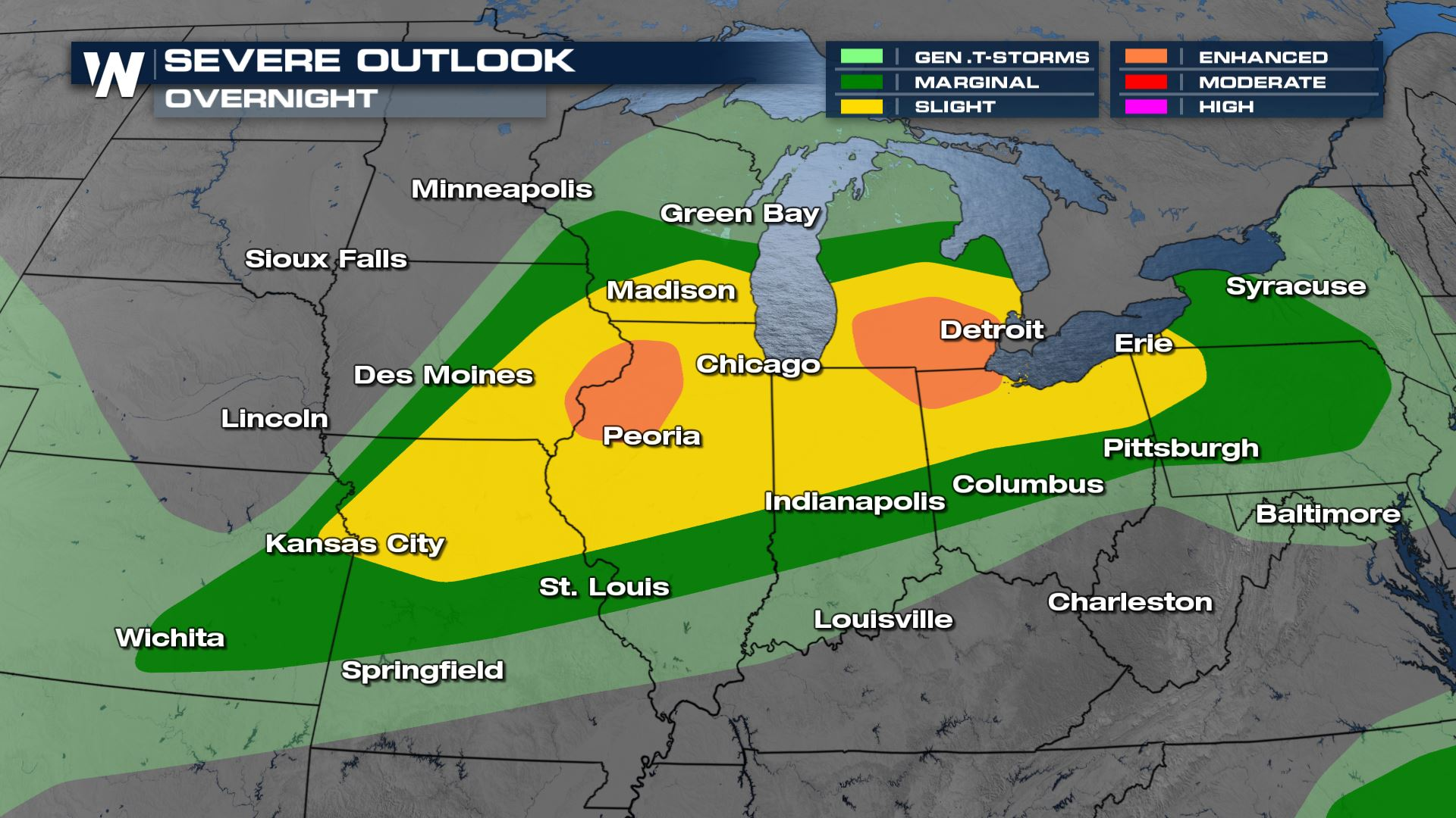 Multi-Day Severe Threat from Midwest to Northeast