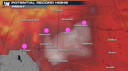 Heat Continues in the South Central U.S.