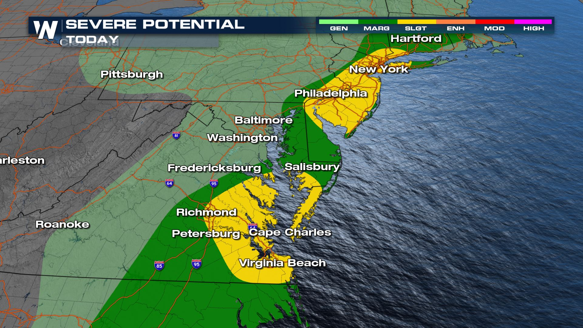 Severe Weather Targets the East Through Friday