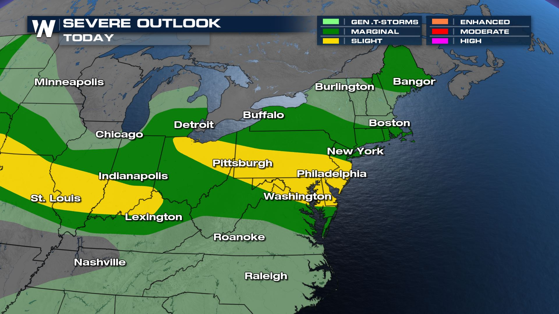 Severe Weather Threat for the Northeast Today