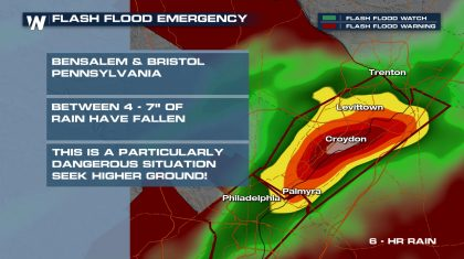 Intense Flash Flooding Hits Pennsylvania and New Jersey