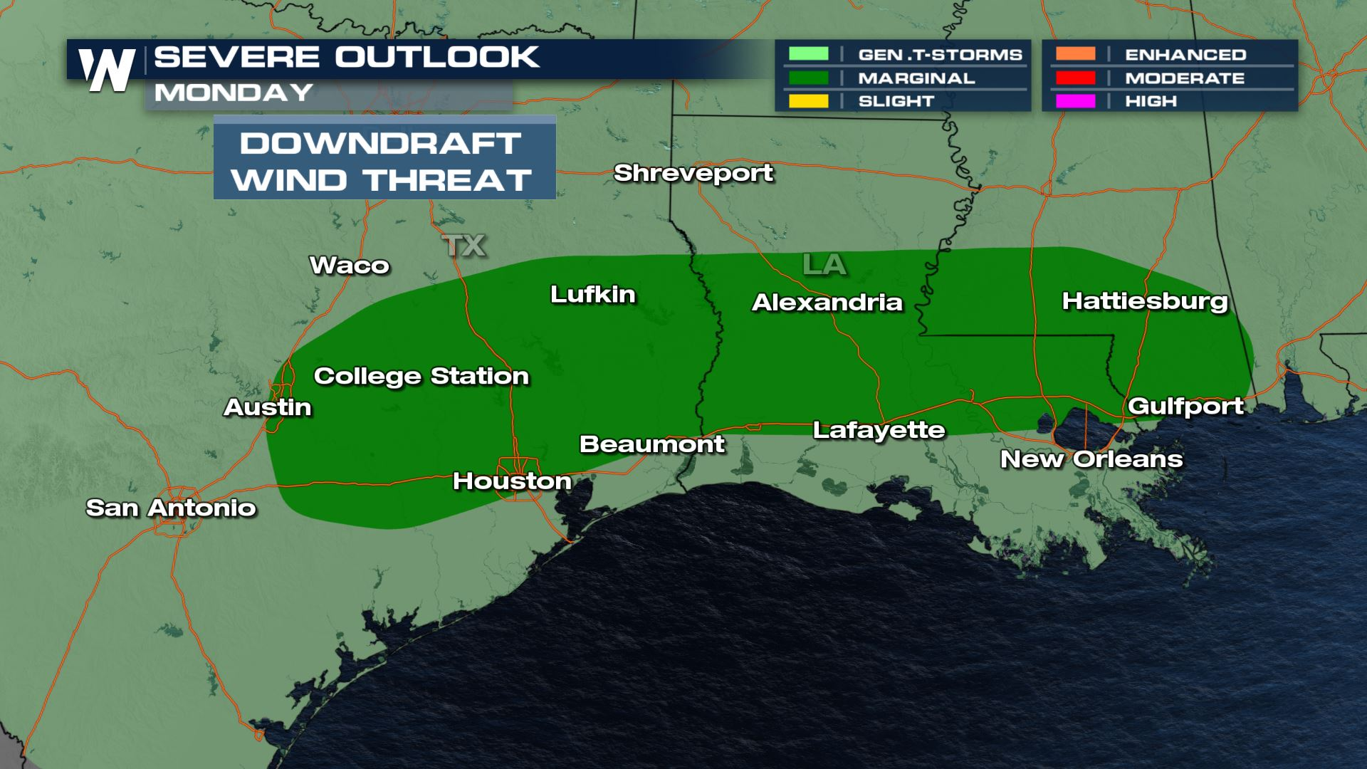 Isolated Severe Storms for the Southern Plains