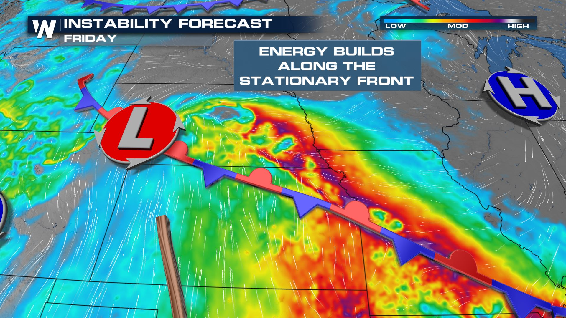 Severe Storm Potential Across the Central Great Plains