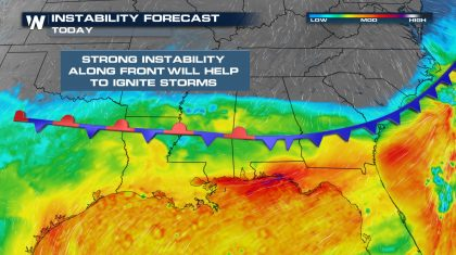 Severe Weather & Flood Potential Across the Deep South