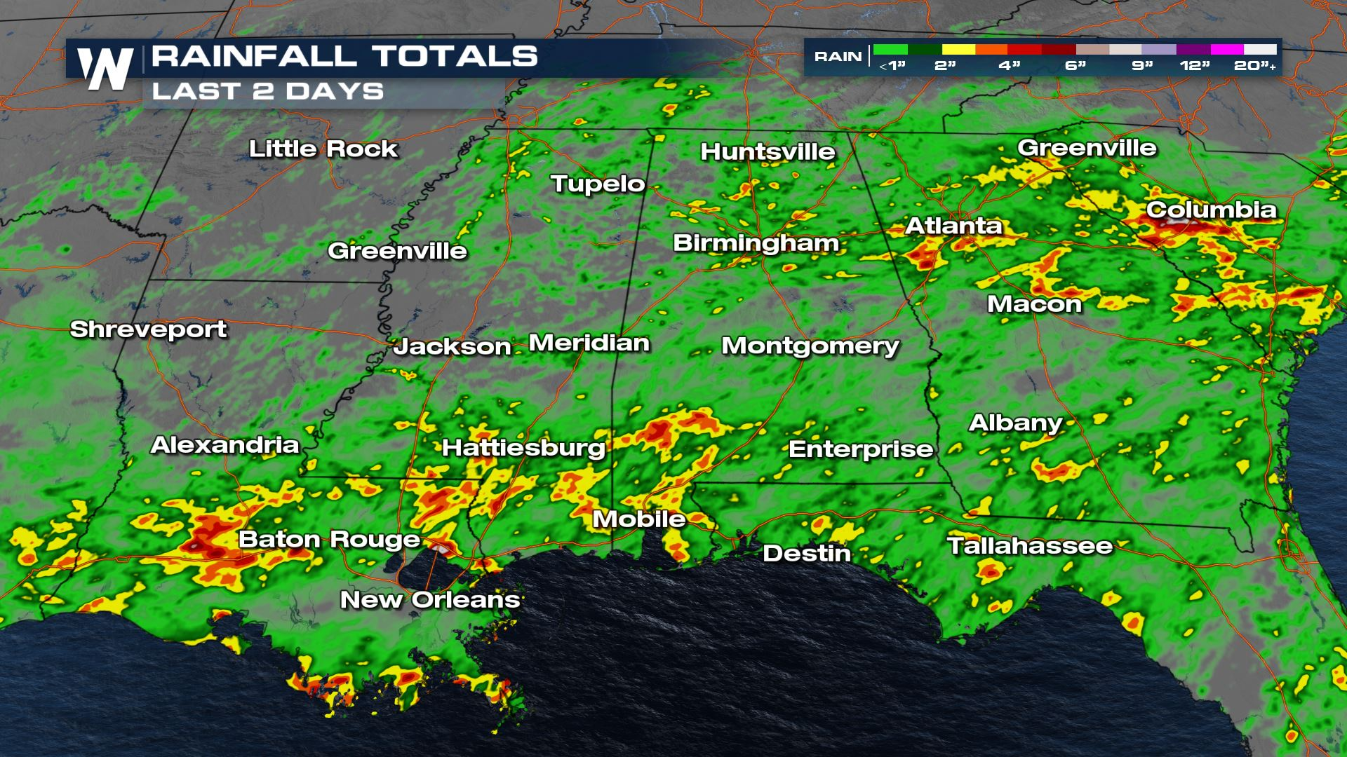 Heavy Rain & Strong Storms Target the Southern U.S.