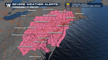 Severe Storms for the Northeast Today
