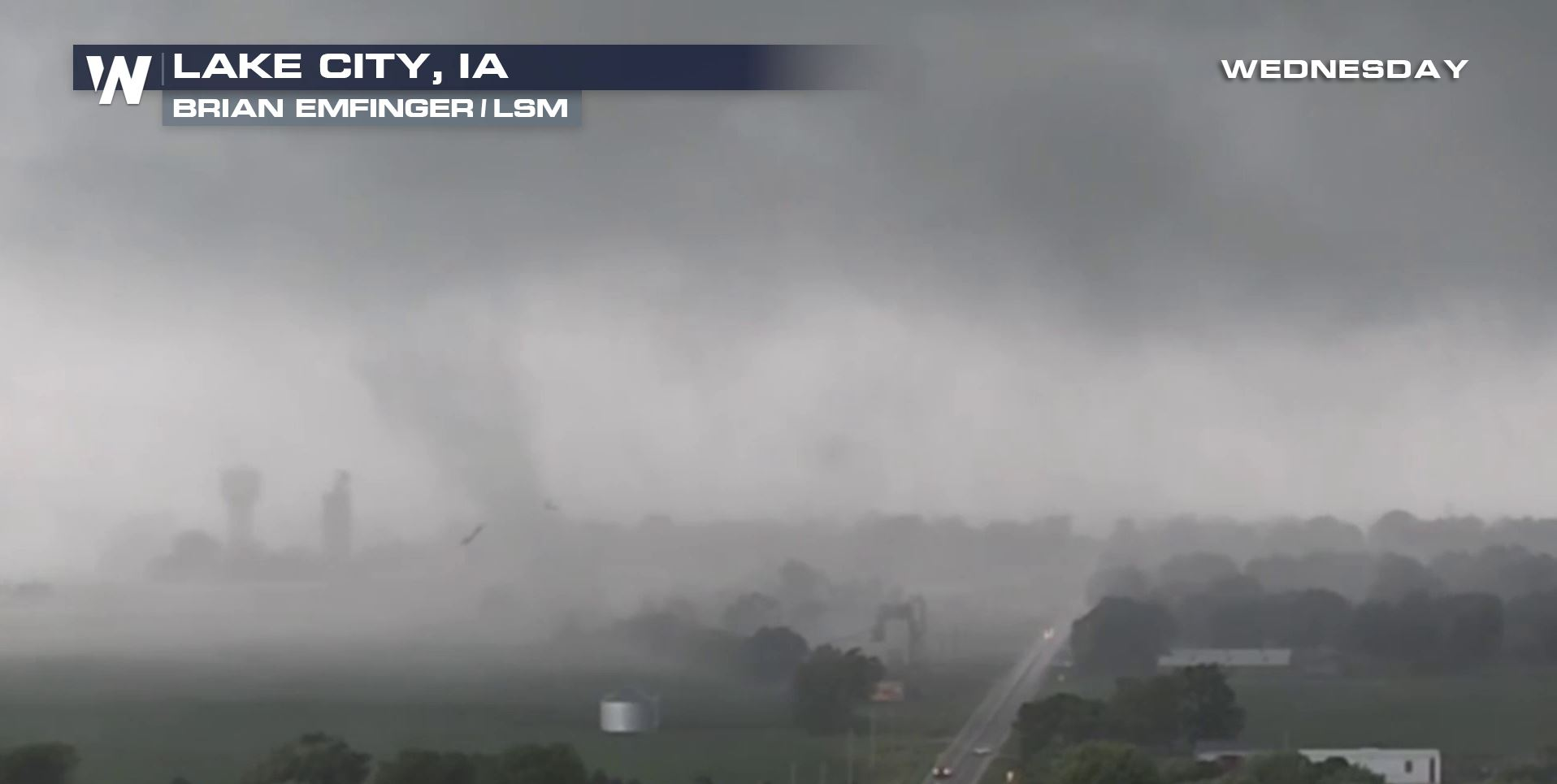 At Least 36 Reports of Tornadoes in Iowa Wednesday