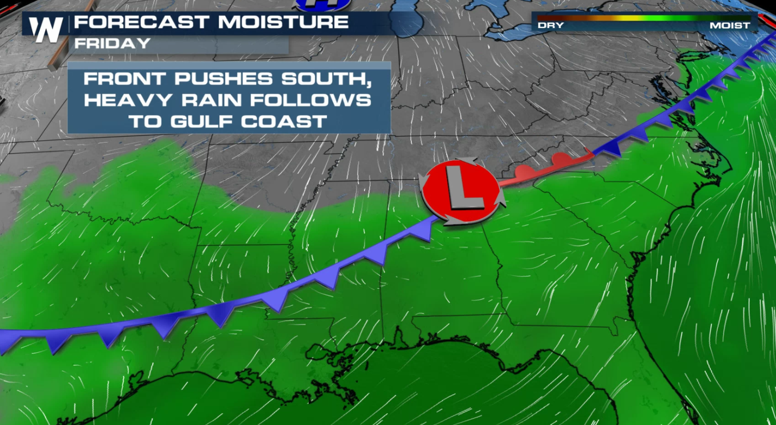 Flood Threat Remains from the East Coast to the Deep South