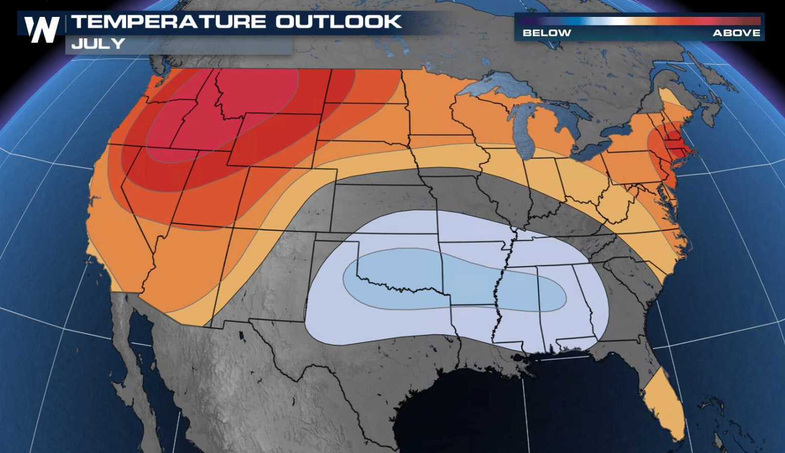 Updated July Outlook: hotter than average for much of the West, North, and East