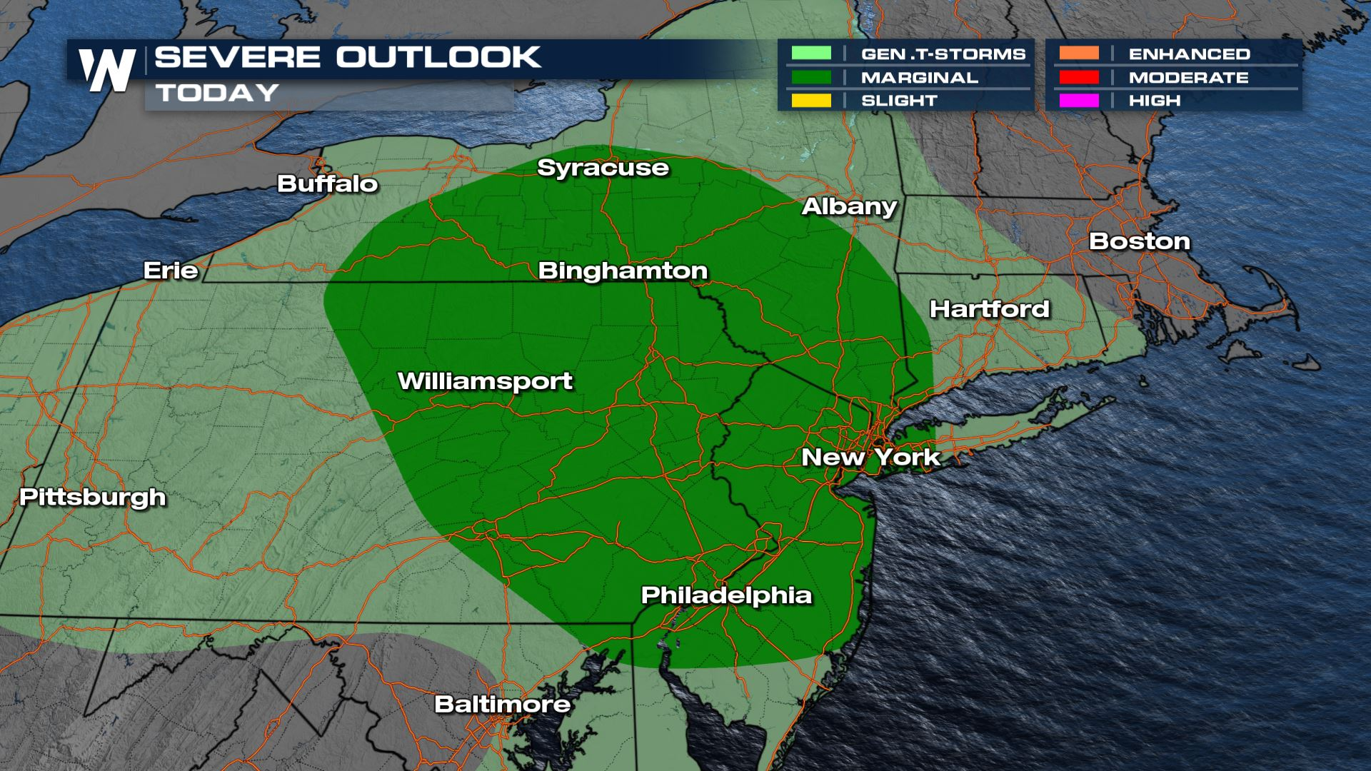 Lingering Storms Impact the Northeast Again Today