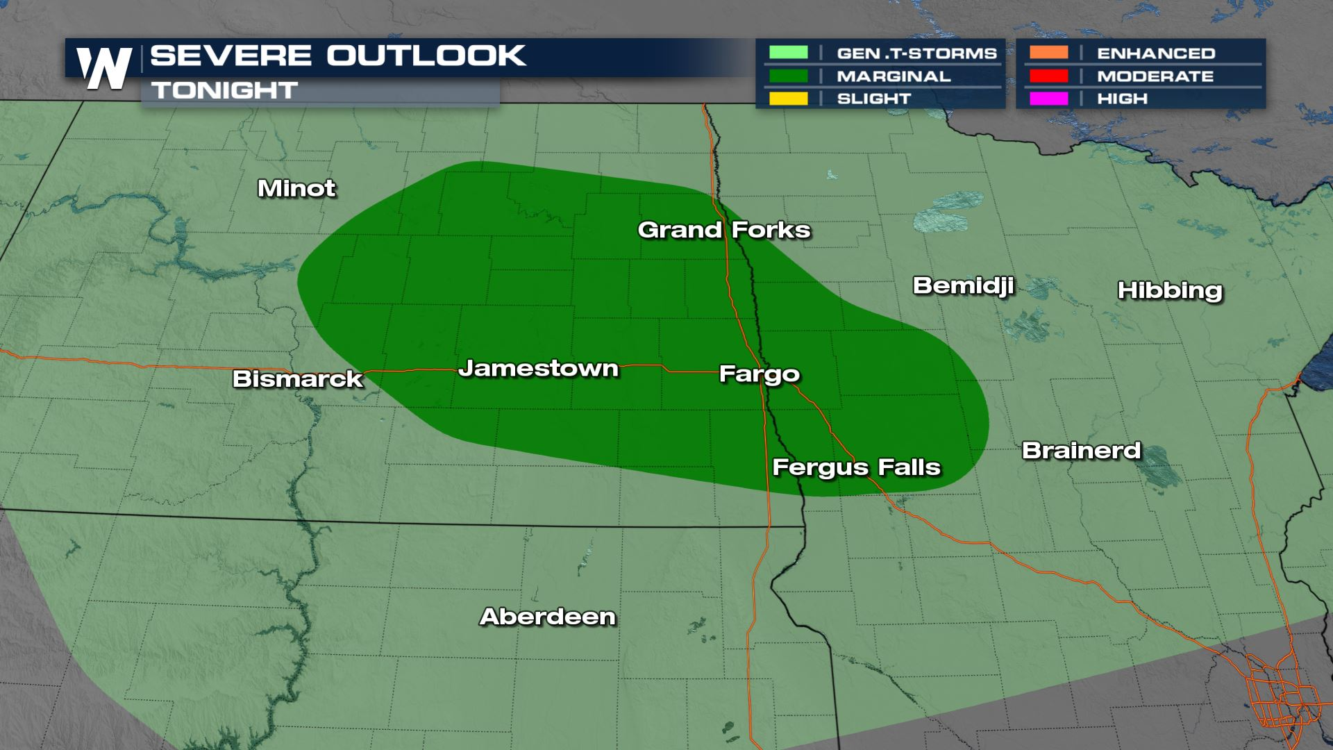 Upper Midwest Isolated Storms