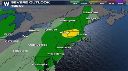 Isolated Severe Storms in the Northeast