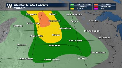 Severe Thunderstorms Likely in the High Plains Today
