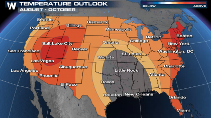August Through October Outlook Trends Warm Again
