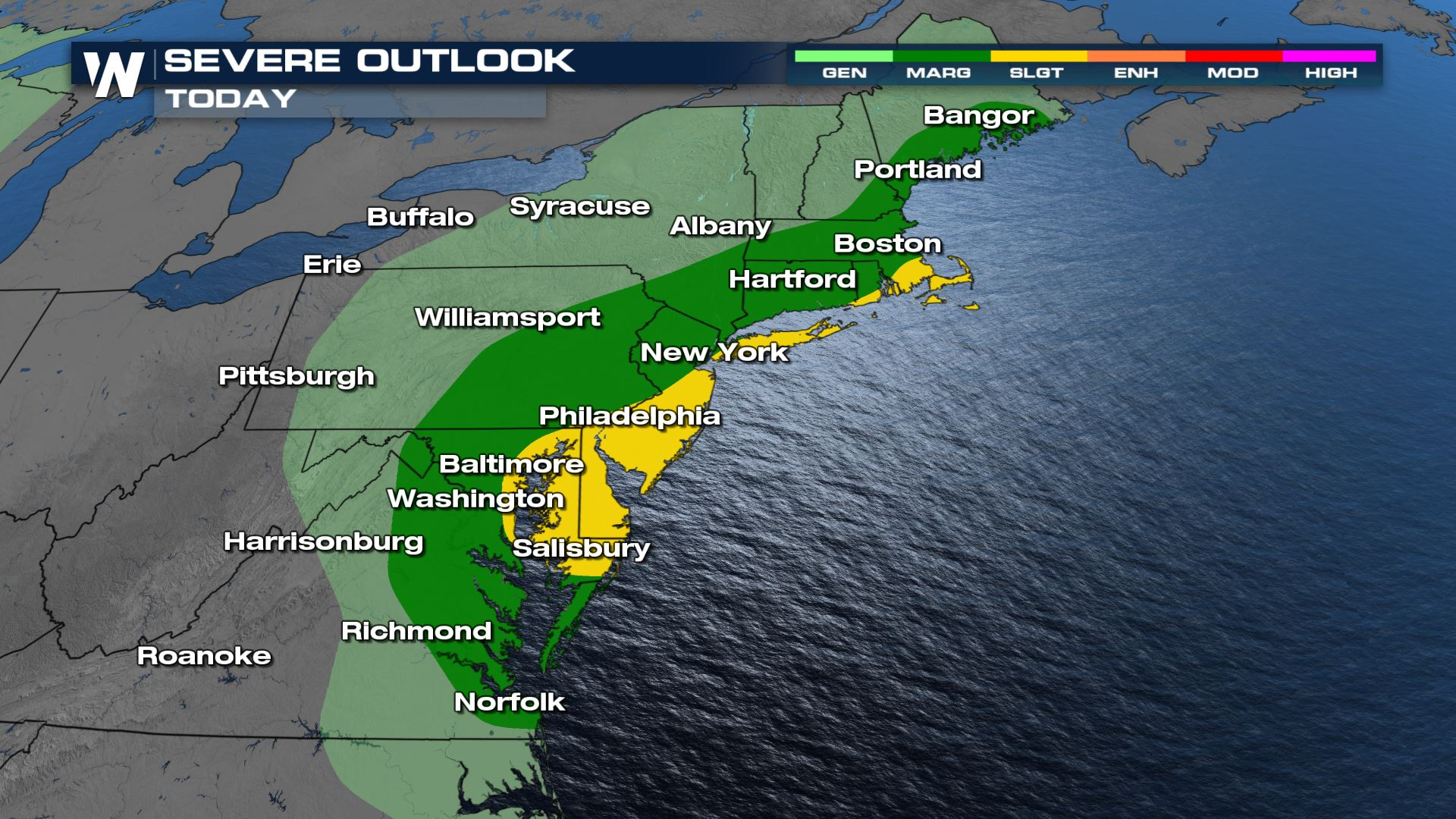 Severe Storms & Flooding Potential for the Northeast Today